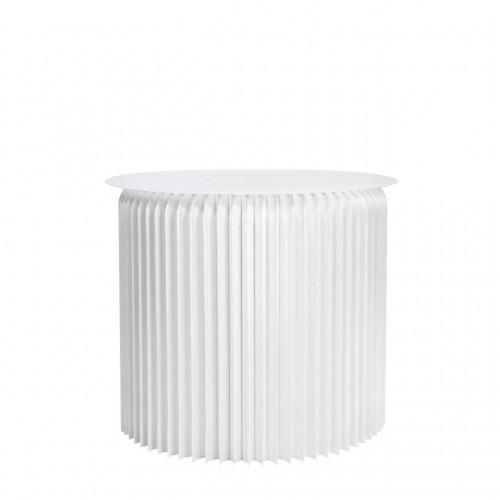 Table ronde pliable - Blanc...